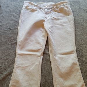 Old Navy White Flare Jeans